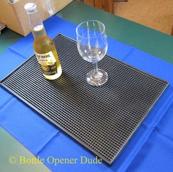 Black Rubber Service Spill Bar Mat 18 X 12 Inches Great