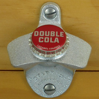 Double Cola Bottle Cap Starr X Wall Mount Opener New Ebay