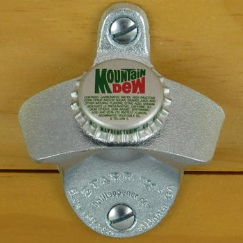 Mountain Dew Bottle Cap Starr X Wall Mount Opener New Ebay